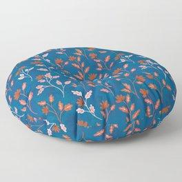 Vintage Floral | Blue and Orange Floor Pillow
