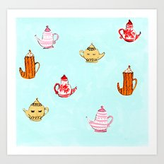 Tea Pots Art Print
