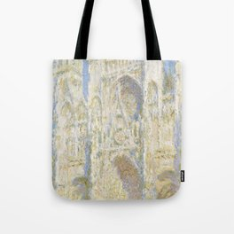 Rouen Cathedral West Faade Sunlight (1894) by Claude Monet Tote Bag