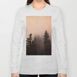 Deep in Thought - Forest Nature Photography Long Sleeve T-shirt