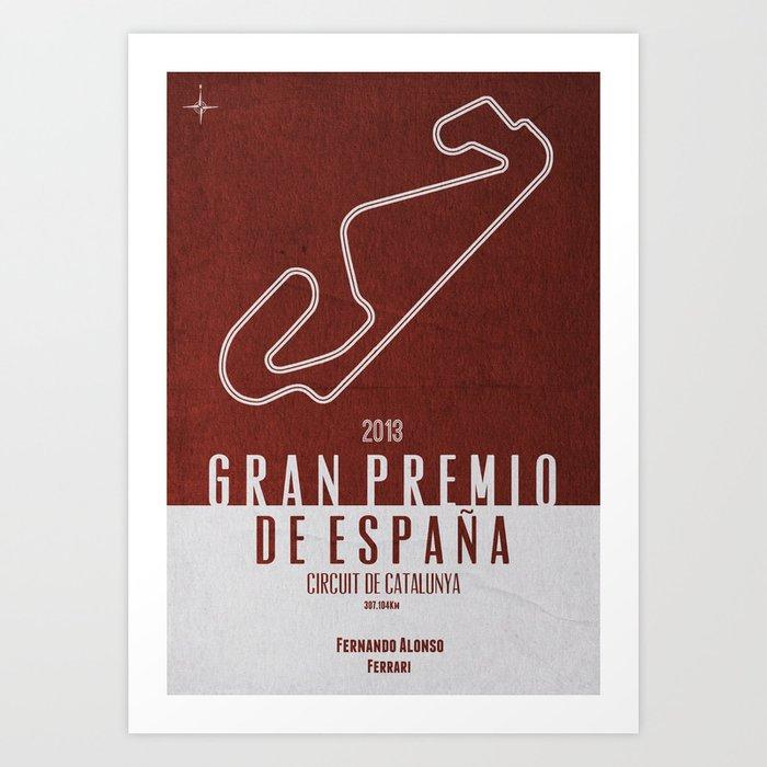 2013 Spanish Grand Prix Art Print
