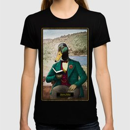 Monsieur Mallard Reading an Improving Book T-shirt