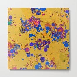 Vibrant Multi Color Abstract Design Metal Print