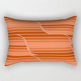 Geo Stripes - Rust Orange Rectangular Pillow