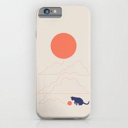 Cat Landscape 41 iPhone Case