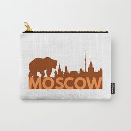 Moscow Skyline and Russian Bear Carry-All Pouch