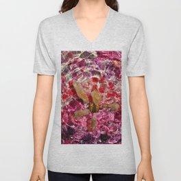 Pink petal citrine star Unisex V-Neck