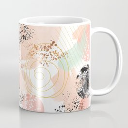 Pattern abstract shapes pastel and textures Coffee Mug