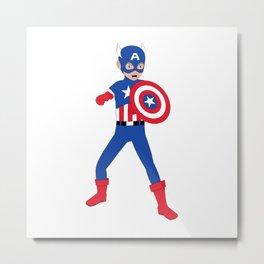 Little Cap. America Metal Print