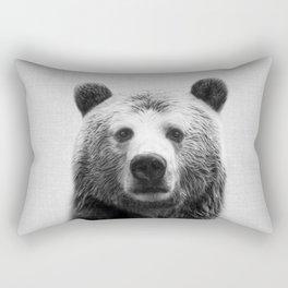 Bear - Black & White Rectangular Pillow