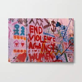 End The Bullshit Metal Print