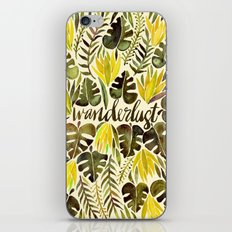 Tropical Wanderlust – Yellow & Olive Palette iPhone Skin