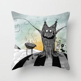 La Chupacabra Throw Pillow