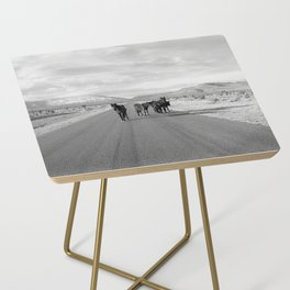 Spring Mountain Wild Horses Side Table