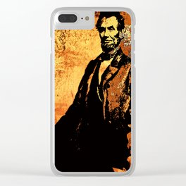 Abraham Lincoln Clear iPhone Case