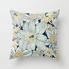 summer flowers Throw Pillow