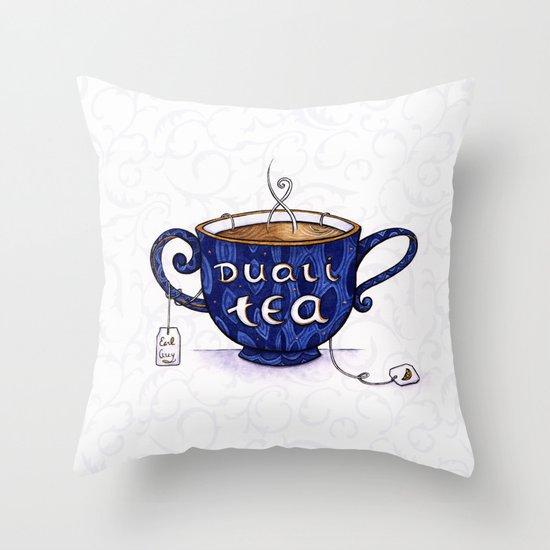 Duali-Tea Throw Pillow