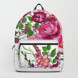 Gladioli and peonies Backpack