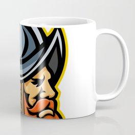 Spanish Conquistador Head Mascot Coffee Mug