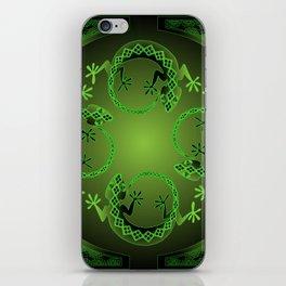 Vintage Green Gecko iPhone Skin