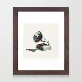 Lo-Fi goes 3D - Vinyl Record Player Framed Art Print