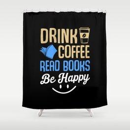 Books Coffee Shower Curtain