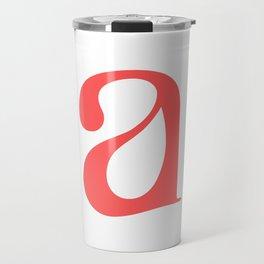 lowercase a Travel Mug