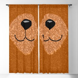 Teddy Bear Nose and Mouth Blackout Curtain