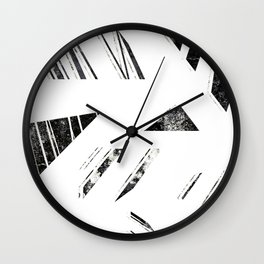 vintage triangle / black Wall Clock
