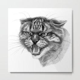Wicked Cat portrait G131 Metal Print