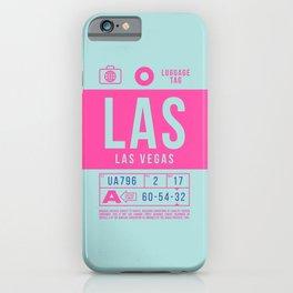 Baggage Tag B - LAS Las Vegas USA iPhone Case