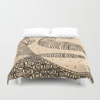 bugs Duvet Covers featuring Slug Bugs by Lady Tanya bleudragon