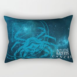 Cancer- Intuitive, loving and Tenacious Rectangular Pillow