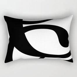 Hidden Letters. Baskerville C Rectangular Pillow