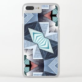 Abstract Structural Collage Clear iPhone Case