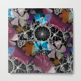 Floral Flutter Dream Metal Print