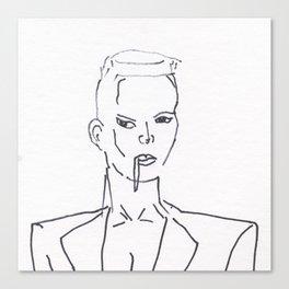 Grace Jones Smoking Canvas Print