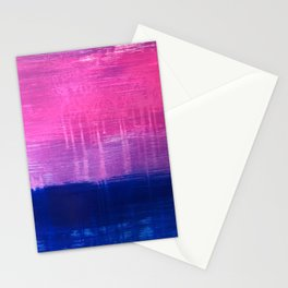 Bisexual Flag: abstract acrylic piece in pink, purple, and blue #pridemonth Stationery Cards
