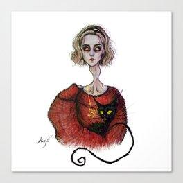 the teenage bitch Canvas Print