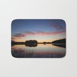 Beautiful clouds and lake landscape after sunset finland Bath Mat