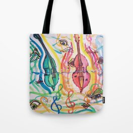 double bass party Tote Bag