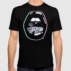 Space Lips Mens Fitted Tee Black MEDIUM