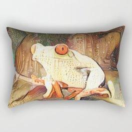 Bohemian Frog Rectangular Pillow