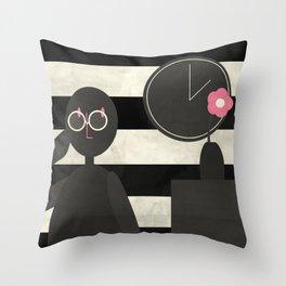 Pince-nez Throw Pillow