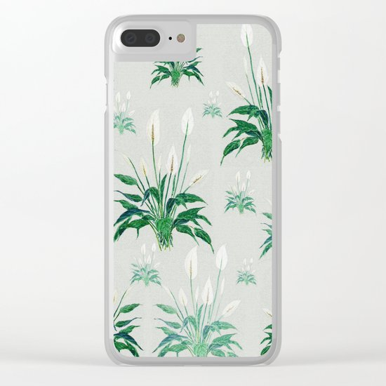 peace lily painting Clear iPhone Case