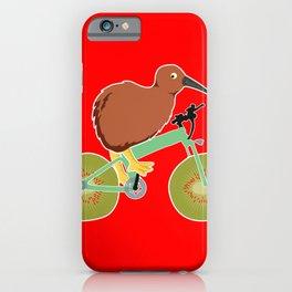 Kiwi On Kiwi Bicycle Funny New Zealand Gift iPhone Case