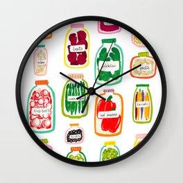 Jars of Fruit & Veg Wall Clock