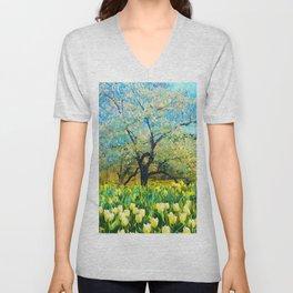 Springtime vibes Unisex V-Neck