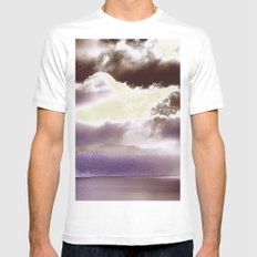Sky Ring Mens Fitted Tee MEDIUM White