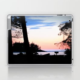 Pink Skies at Night - Deception Pass State Park, Whidbey Island, WA Laptop & iPad Skin